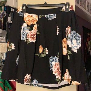 Floral skater shirt